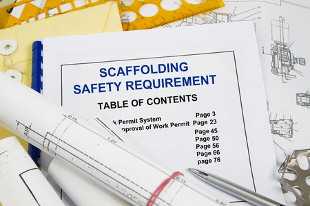 Photo for SAFETY REQUIREMENTS FOR SCAFFOLDS - many uses in the oil and gas industry. - Royalty Free Image