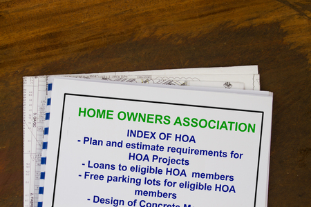 Foto de Home owners association - concept of regulation and dues. - Imagen libre de derechos