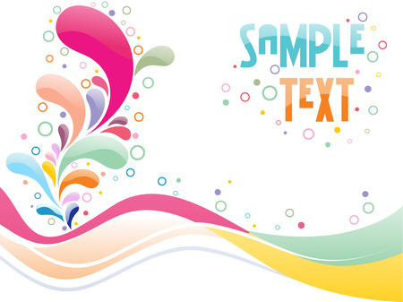 multi color floral card design with place of sample text