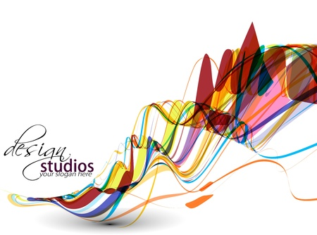 Illustration for abstract colorful wave background, Vector illustration. - Royalty Free Image