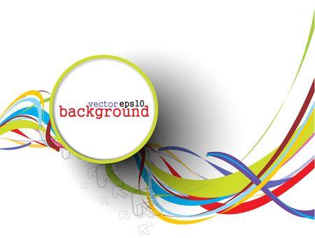 Foto de Abstract colorful circle banner for your text. Vector design.  - Imagen libre de derechos