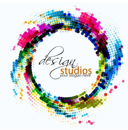 Illustration for abstract colorful circle background, vector illustration  - Royalty Free Image