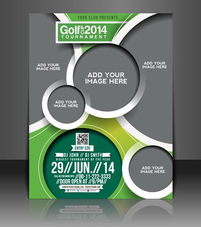 Illustration pour Golf Tournament Flyer & Poster Template Design - image libre de droit