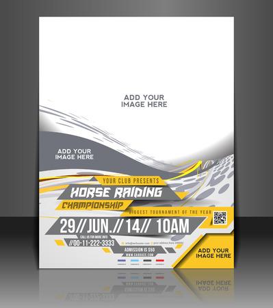 Horse Riding Flyer & Poster Template Design