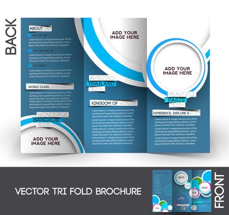 Ilustración de Travel Tri-Fold Mock up & Brochure Design  - Imagen libre de derechos