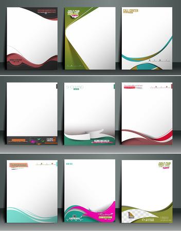 Ilustración de Business Style Corporate Identity Letterhead Template. - Imagen libre de derechos