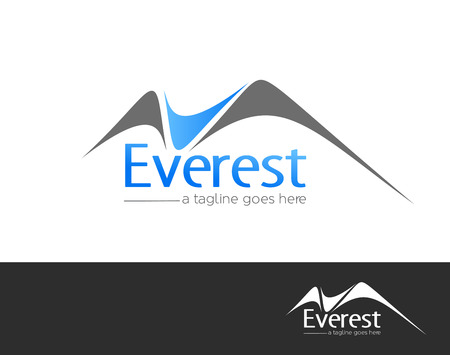 Illustration for Mountains everest logo element vector design - Royalty Free Image