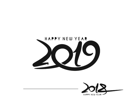 Illustration for Happy new year 2019 - 2018 Text Design Vector illustration - Royalty Free Image