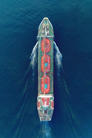 Foto de Ship tanker gas LPG top speed on the sea for transportation. - Imagen libre de derechos