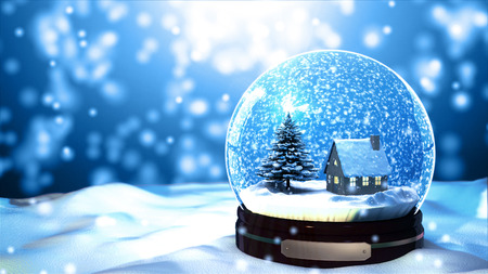 Foto de Christmas Snow globe Snowflake close-up - Imagen libre de derechos