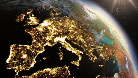 Photo pour Planet Earth Europe zone. - image libre de droit