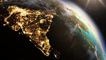 Foto de Planet Earth Asia zone. Elements of this image furnished by NASA - Imagen libre de derechos