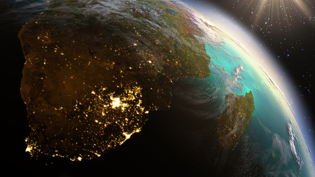 Foto de Planet Earth South Africa zone. Elements of this image furnished by NASA - Imagen libre de derechos