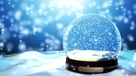 Photo pour Christmas Snow globe Snowflake close-up - image libre de droit