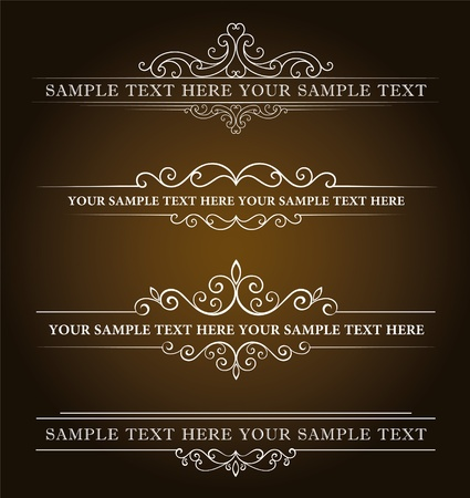 Photo for Calligraphic old elements vintage decor, vector - Royalty Free Image