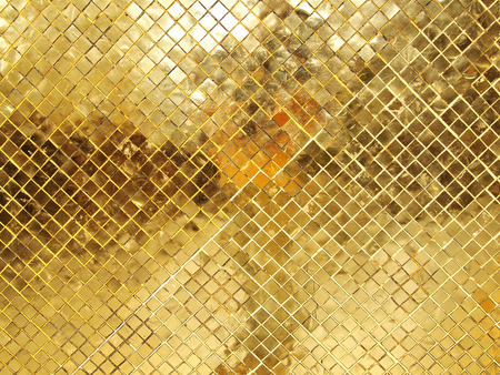 Photo for Gold Mosaic tile texture - Royalty Free Image