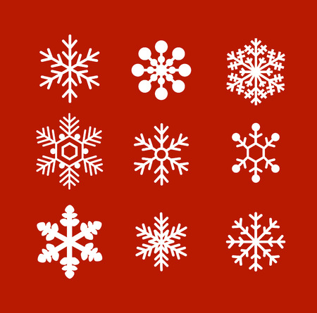 Illustration for Flat snowflakes ornament vector - Royalty Free Image