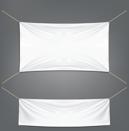 White banners with garters