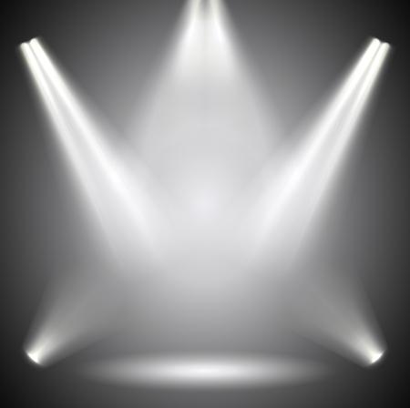 Illustration pour Scene illumination. Background bright lighting with spotlights. - image libre de droit
