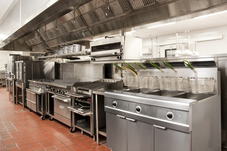 Foto per Stainless Steel Commercial Kitchen - Immagine Royalty Free