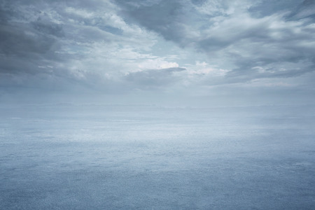 Empty frozen lake background with copy space