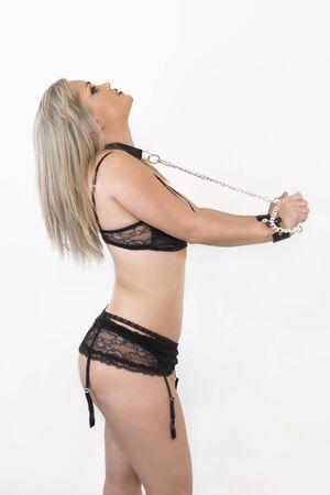 Foto de Sexy woman in lingerie with chains - Imagen libre de derechos