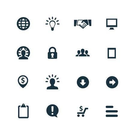 Illustration pour Business icons set on white background - image libre de droit