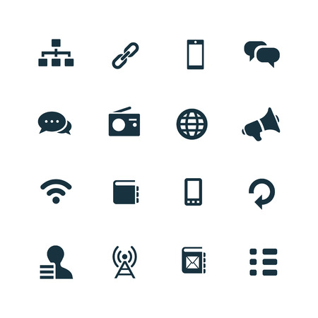 Foto de communication icons set on white background - Imagen libre de derechos