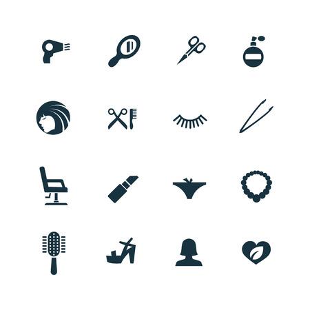 Illustration pour beauty salon icons set on white background - image libre de droit