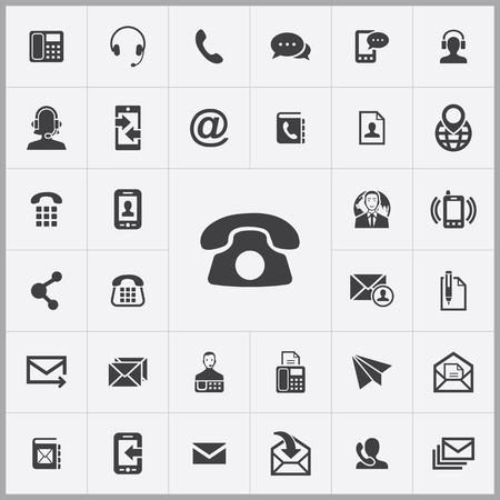 Illustration pour contact us icons universal set for web and mobile - image libre de droit