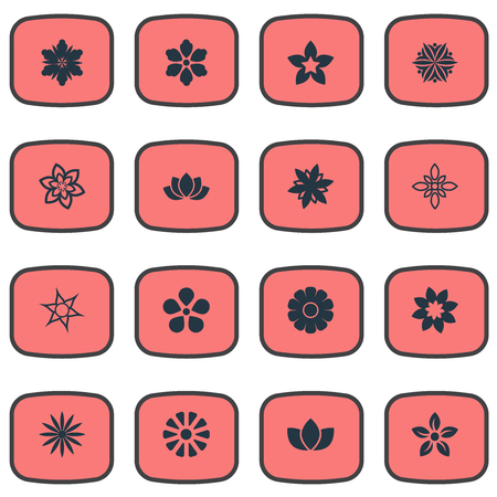 Illustration pour Vector Illustration Set Of Simple Blossom Icons - image libre de droit