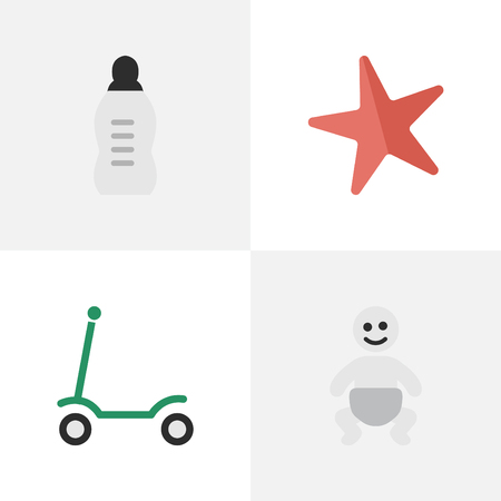Illustration pour Set Of Simple Kid Icons. - image libre de droit