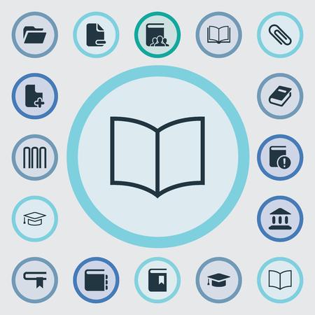 Ilustración de Set Of Simple Reading Icons. - Imagen libre de derechos