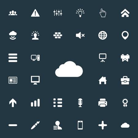 Ilustración de Set Of Simple Interface Icons. - Imagen libre de derechos