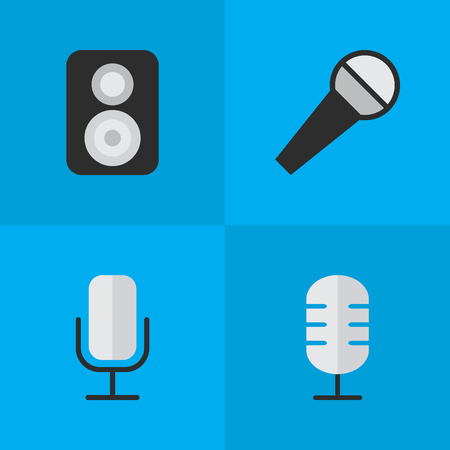 Illustrazione per Set Of Simple Music Icons. - Immagini Royalty Free