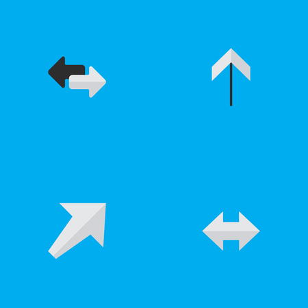 Photo pour Vector Illustration Set Of Simple Indicator Icons. Elements Up, Everyway, Southwestward And Other Synonyms Up, Arrow And Export. - image libre de droit
