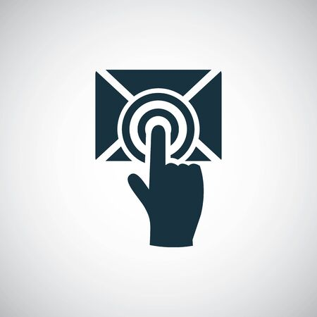 Illustration for mail select icon trendy simple concept symbol design - Royalty Free Image