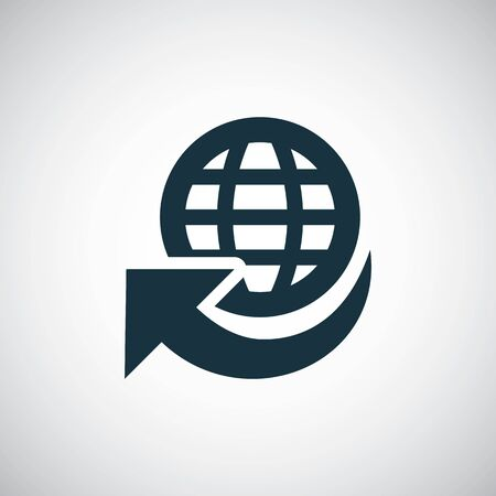 Illustration pour globe arrow icon trendy simple symbol concept template - image libre de droit