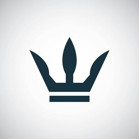 Illustration for crown icon, on white background. - Royalty Free Image