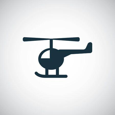 Illustration pour helicopter icon simple flat element concept design - image libre de droit