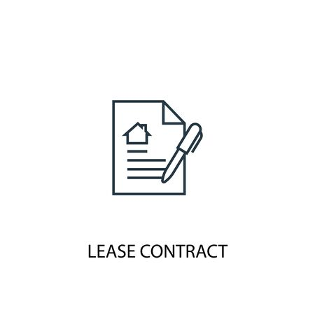 Illustration pour Lease contract concept line icon. Simple element illustration. Lease contract concept outline symbol design. Can be used for web and mobile - image libre de droit