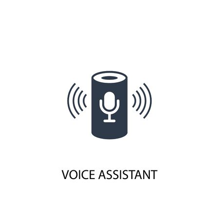 Ilustración de voice assistant icon. Simple element illustration. voice assistant concept symbol design. Can be used for web - Imagen libre de derechos