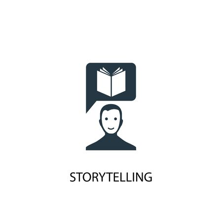 Illustration pour storytelling icon. Simple element illustration. storytelling concept symbol design. Can be used for web - image libre de droit