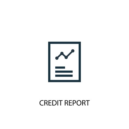 Illustration pour Credit report icon. Simple element illustration. Credit report concept symbol design. Can be used for web - image libre de droit
