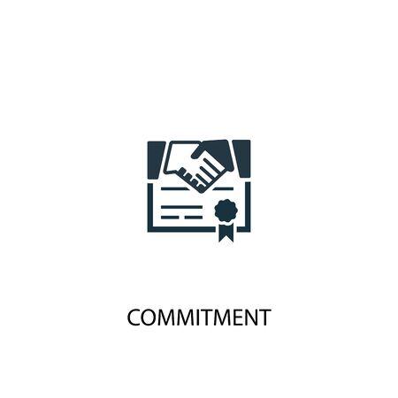 Illustration pour commitment icon. Simple element illustration. commitment concept symbol design. Can be used for web - image libre de droit