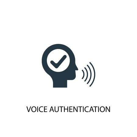 Ilustración de voice authentication icon. Simple element illustration. voice authentication concept symbol design. Can be used for web - Imagen libre de derechos