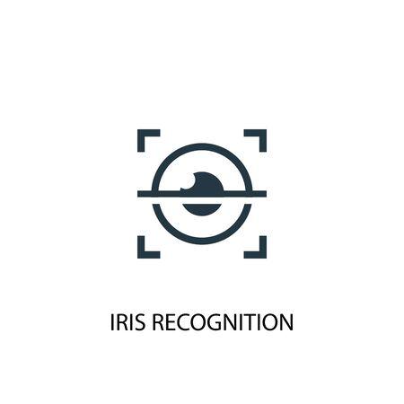 Ilustración de iris recognition icon. Simple element illustration. iris recognition concept symbol design. Can be used for web - Imagen libre de derechos