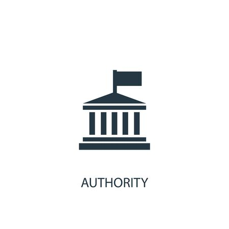 Ilustración de authority icon. Simple element illustration. authority concept symbol design. Can be used for web - Imagen libre de derechos