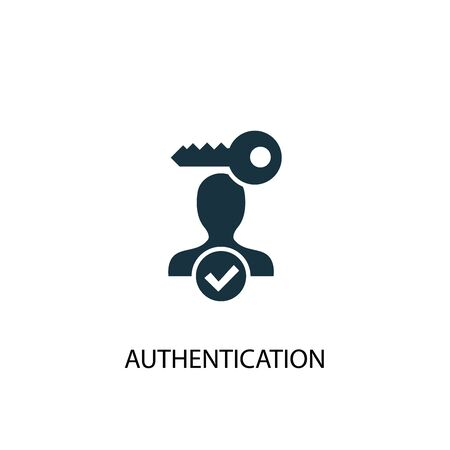 Ilustración de Authentication icon. Simple element illustration. Authentication concept symbol design. Can be used for web - Imagen libre de derechos