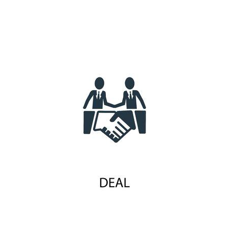 Ilustración de deal icon. Simple element illustration. deal concept symbol design. Can be used for web - Imagen libre de derechos